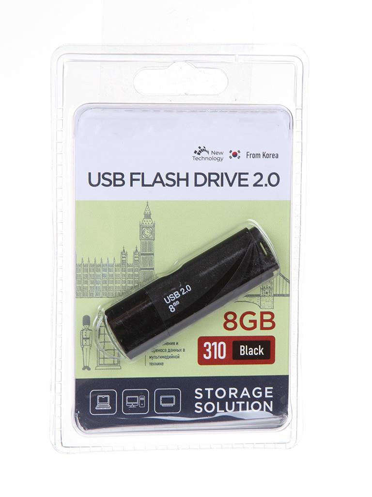 USB Flash Drive 8Gb - OltraMax 310 OM-8GB-310-Black