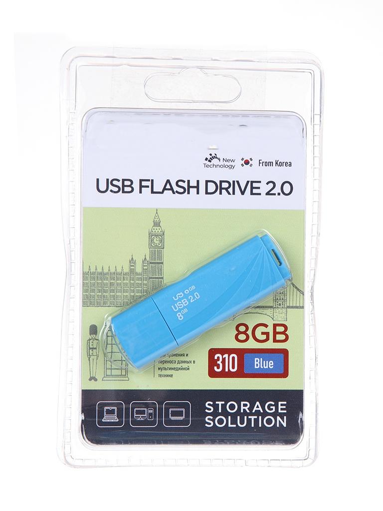 USB Flash Drive 8Gb - OltraMax 310 OM-8GB-310-Blue