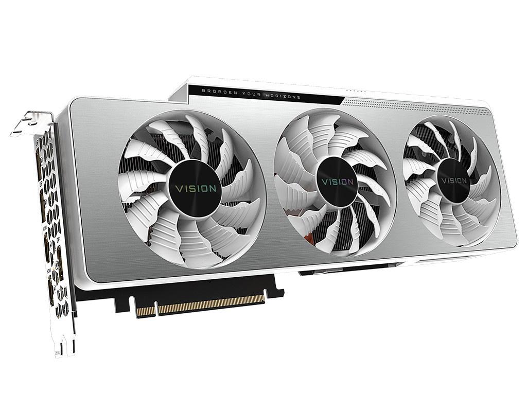 Видеокарта GigaByte GeForce RTX 3090 Vision OC 24G 1695Mhz PCI-E 4.0 24576Mb 19500Mhz 384-bit 2xHDMI 3xDP HDCP GV-N3090VISION OC-24GD