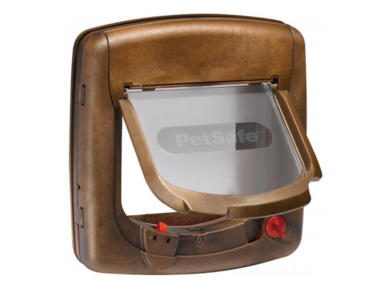 Дверца для кошек PetSafe Делюкс с магнитным ключом Brown 420EF