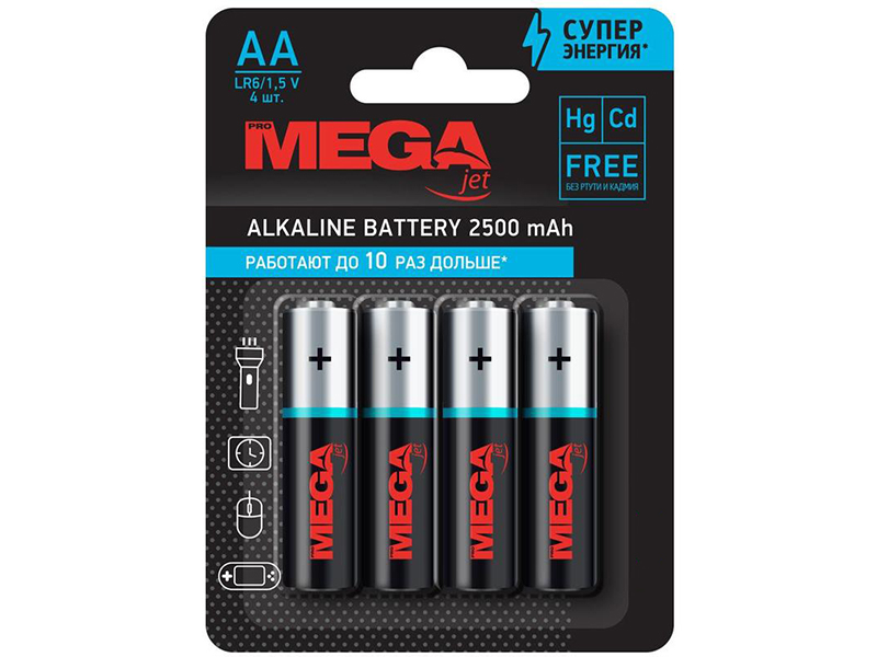 Батарейка AA - ProMega LR06 (4 штуки) 1188297