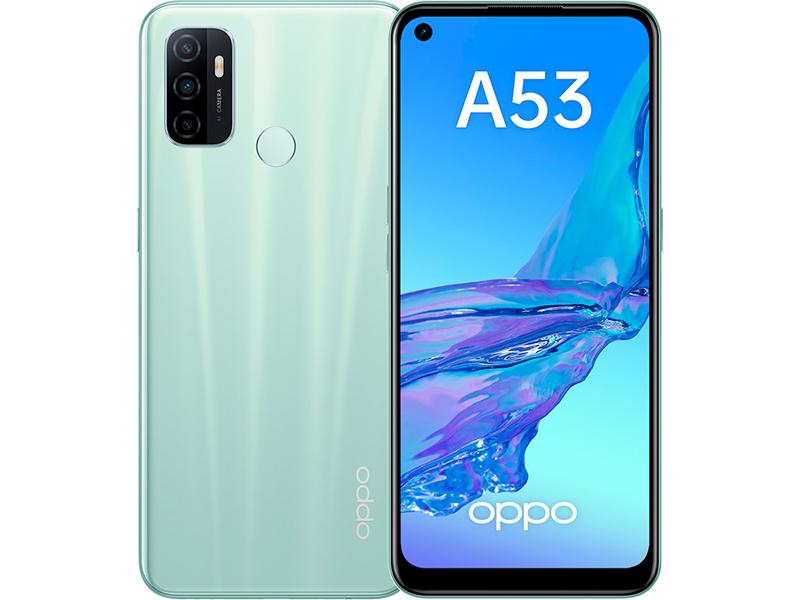 Сотовый телефон Oppo A53 4/128Gb Mint Выгодный набор + серт. 200Р!!! сотовый