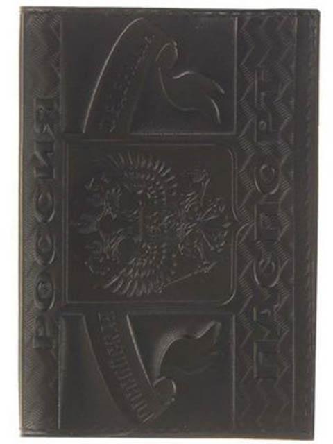 губка для мойки и полировки главдор gl 99 013 15x9x5cm 50047 Обложка для паспорта Главдор GL-226 натуральная кожа с тиснением Black 51824