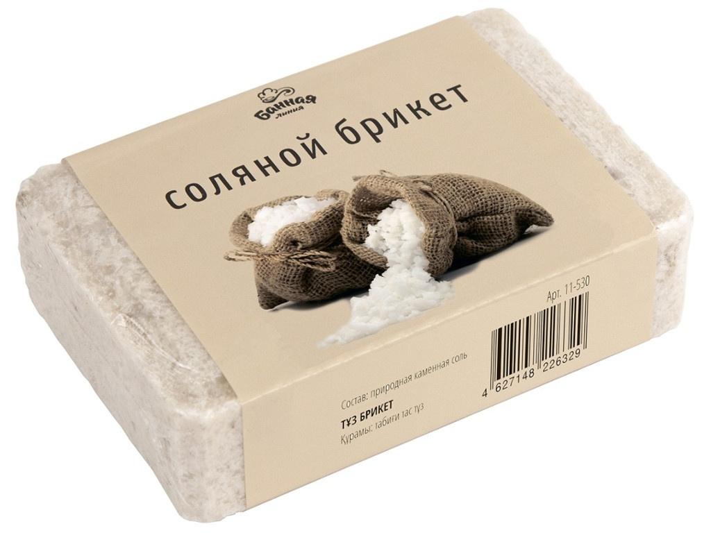 Соляной брикет Банная линия 1.2kg 11-530