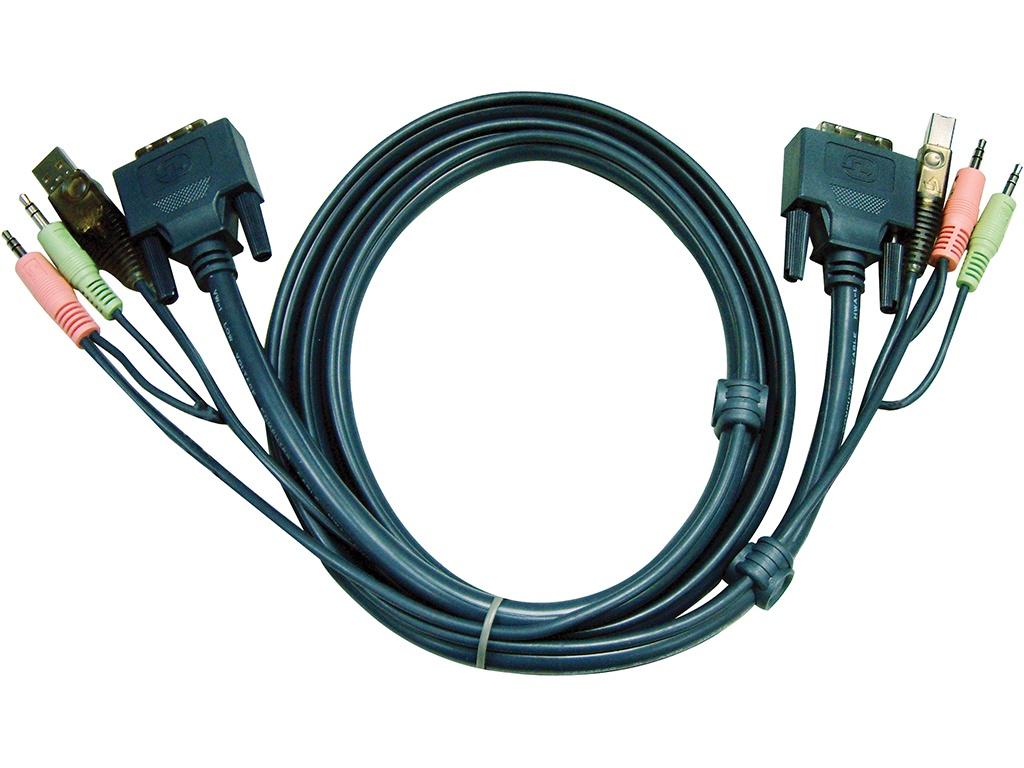 Аксессуар Aten DVI-I - USB 1.8m 2L-7D02UI