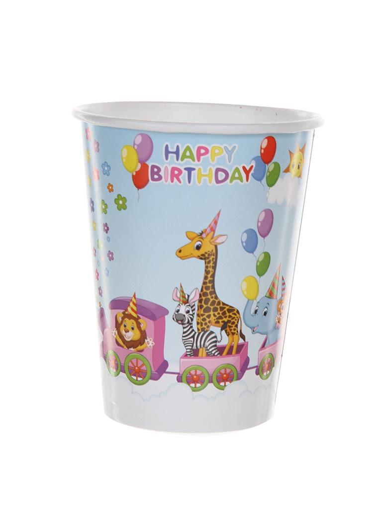 Одноразовые стаканчики Хамелеон Зоопарк 200ml 6шт VPH314