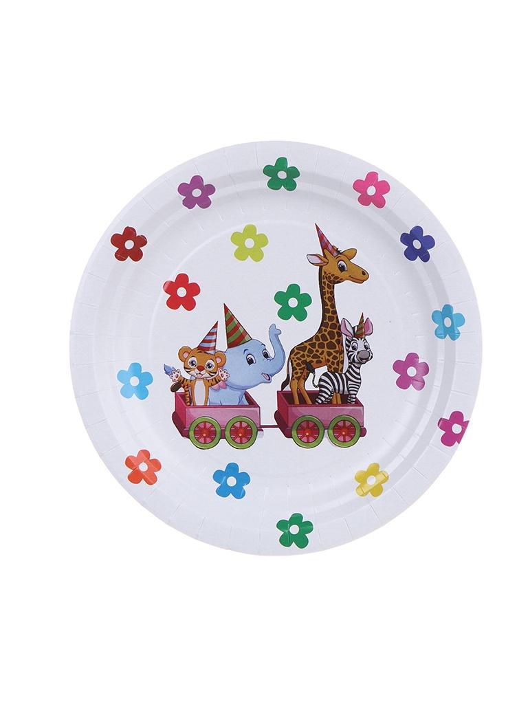 Одноразовые тарелки Хамелеон Зоопарк 18cm 6шт VPH313