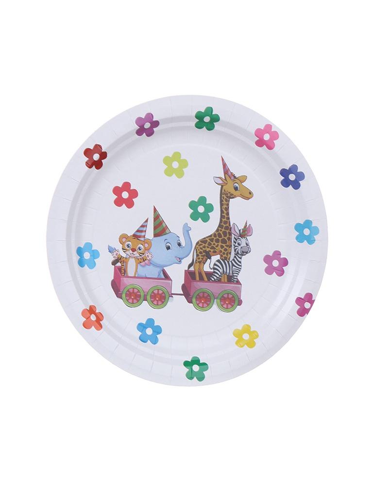 Одноразовые тарелки Хамелеон Зоопарк 23cm 6шт VPH312
