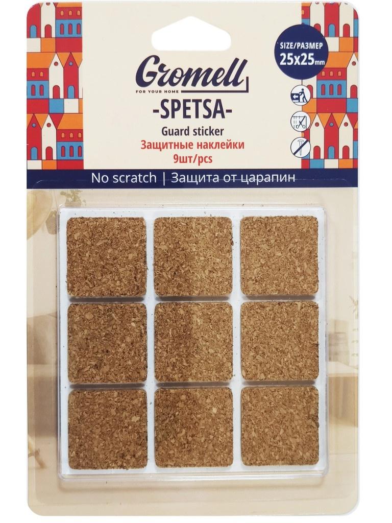 Защитные наклейки Gromell Spetsa материал - пробка 9шт 77M10725
