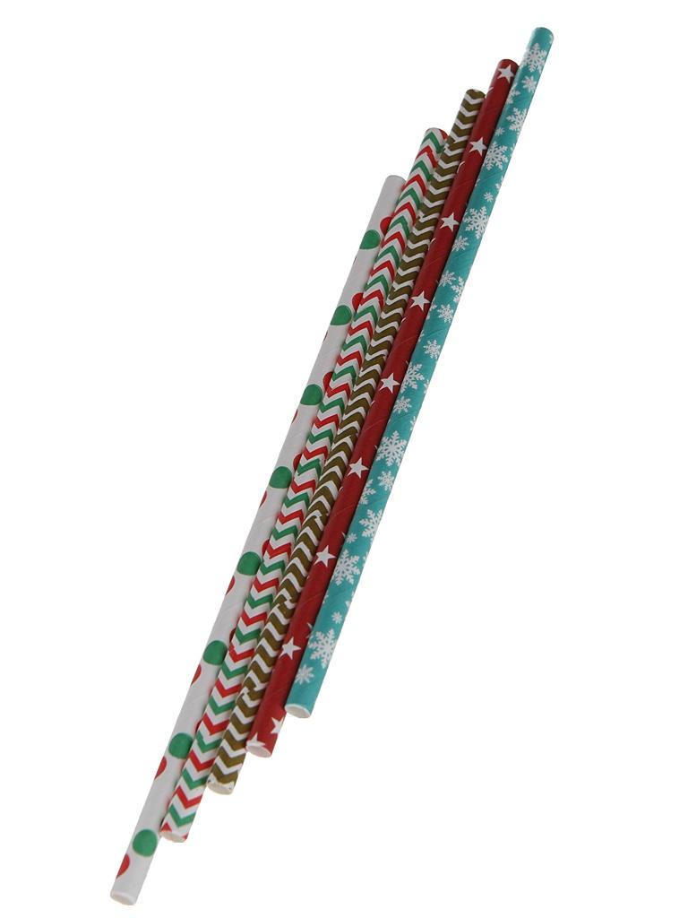 Бумажные трубочки Хамелеон 25шт BTK062