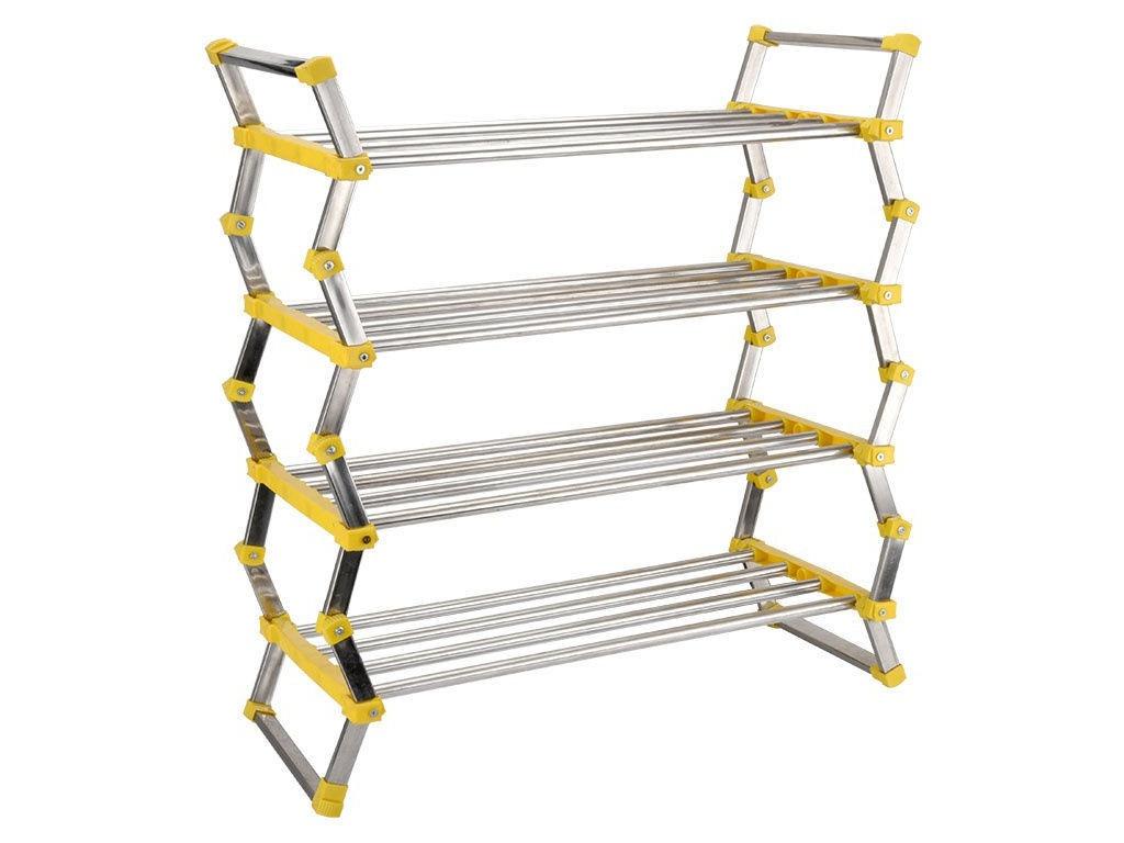 Складная этажерка для обуви Gromell Halki 4-х ярусная Stainless Steel 77TX008
