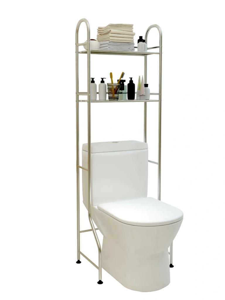 Полка для туалета Gromell Gilos 2-х ярусная Stainless Steel 77YE001