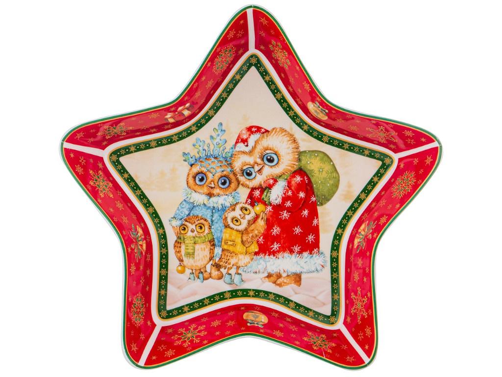Блюдо Lefard Совы 28x28x5 85-1568