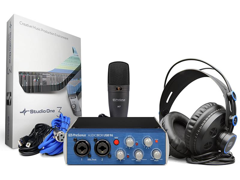 Микрофон PreSonus AudioBox 96 Studio аудиоинтерфейс presonus audiobox usb 96 25th anniversary edition