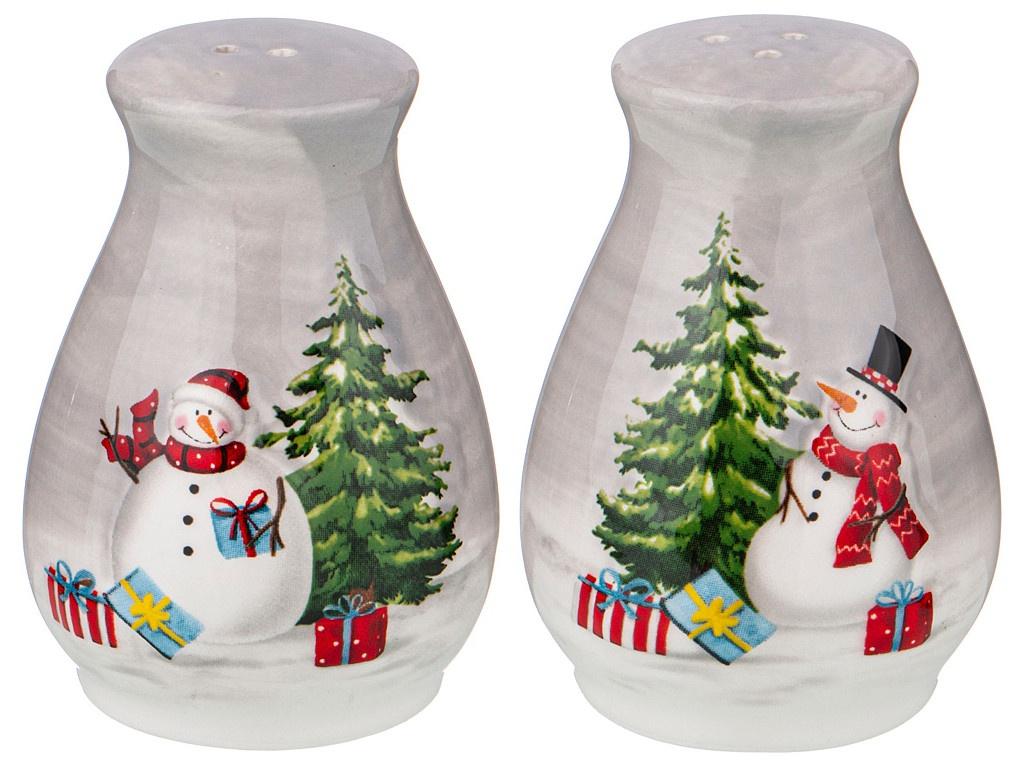 Набор для специй Lefard Веселые снеговики 5.5x5.2x7.4cm 493-767