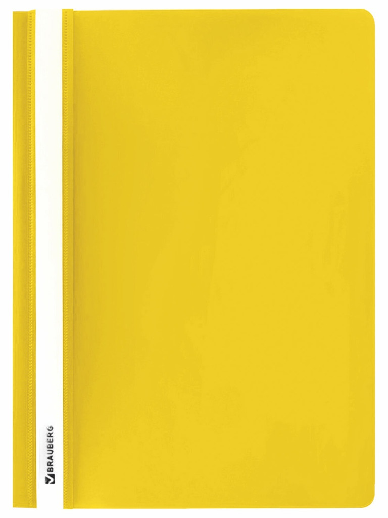 Папка Brauberg A4 130/180мкм Yellow 228671