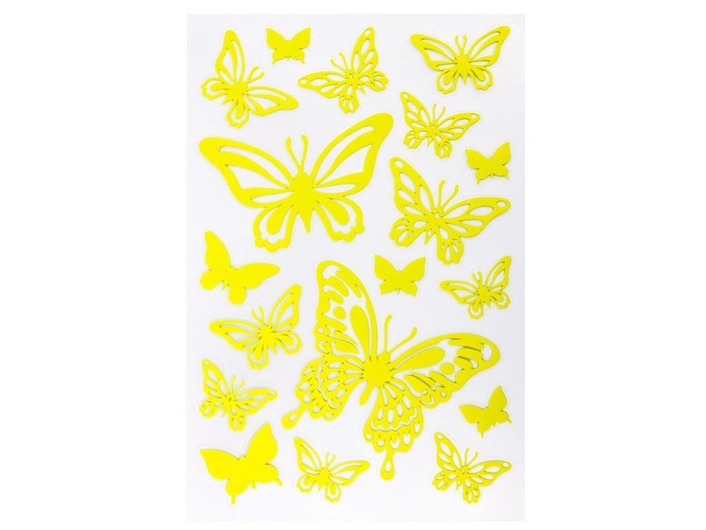 Пособие Наклейки флуоресцентные Юнландия Бабочки 18шт 662693