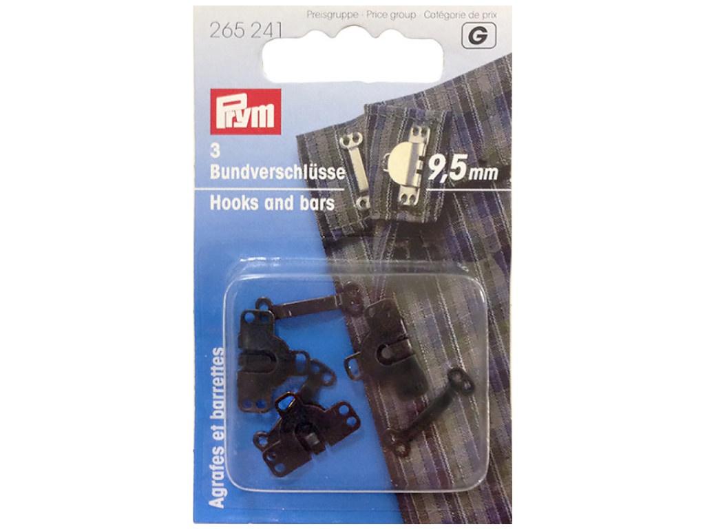 Крючки для брюк и юбок Prym 9.5mm 3шт Black 265241