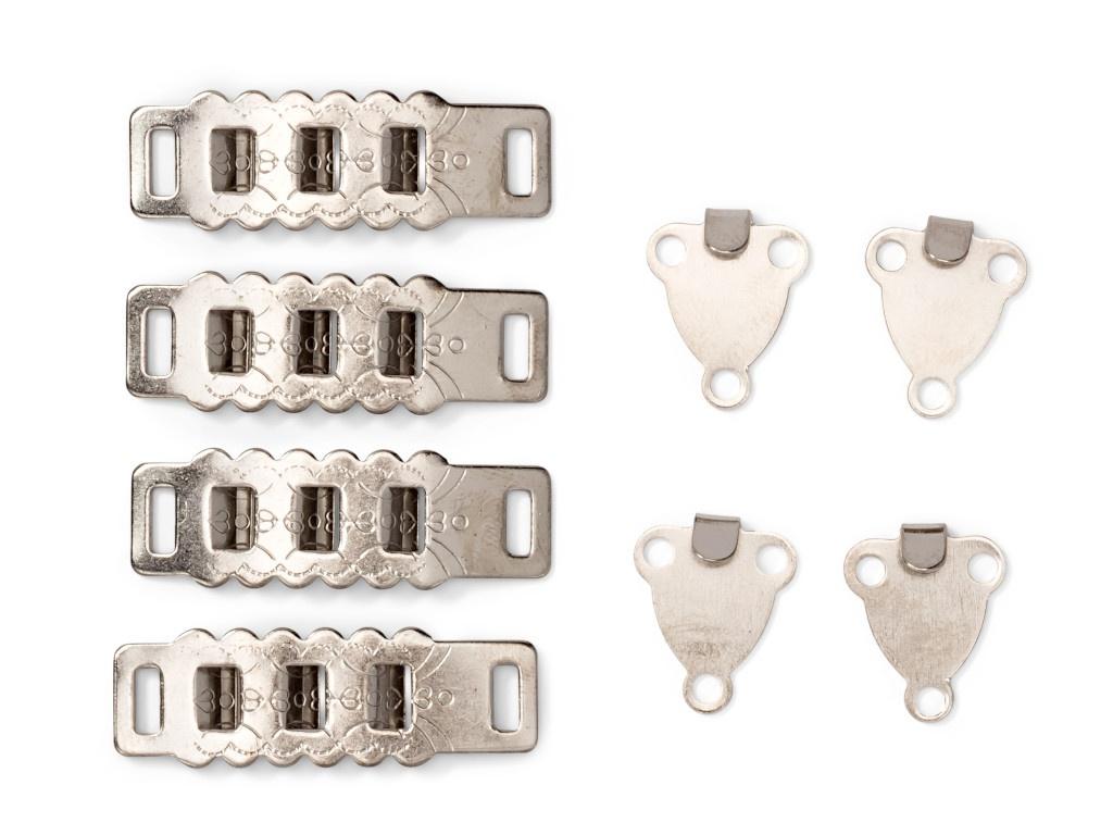 Крючки поясные юбочные, брючные Prym на 3 положения 4mm 4 шт Nickel 265233