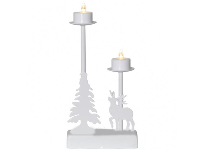 Подсвечник Star Trading Walder 2 LED-свечи 27x13cm Warm White 188-70