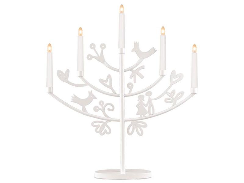 Светильник Star Trading Eden на 5 свечей 52x45cm White 180-48