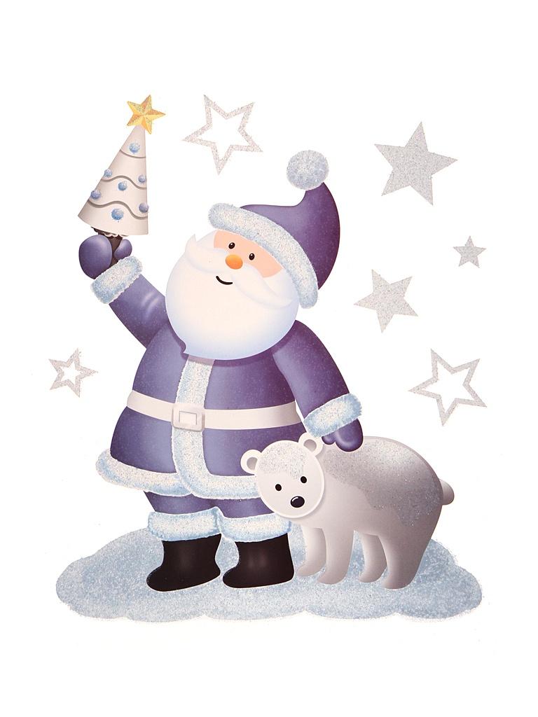 Наклейка-бордюр Peha Magic Санта с Медвежонком 28.5х34.5cm JC-20350
