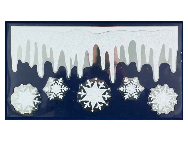 Набор наклеек Peha Magic Сосульки и Снежинки 24х44.5cm JC-20445