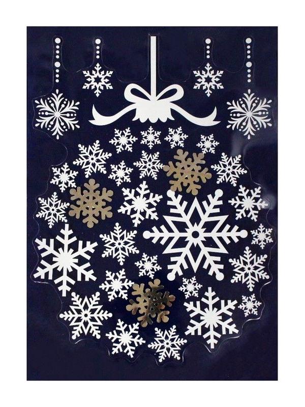 Наклейка Peha Magic Шар из Снежинок 28.5х40cm RD-60490