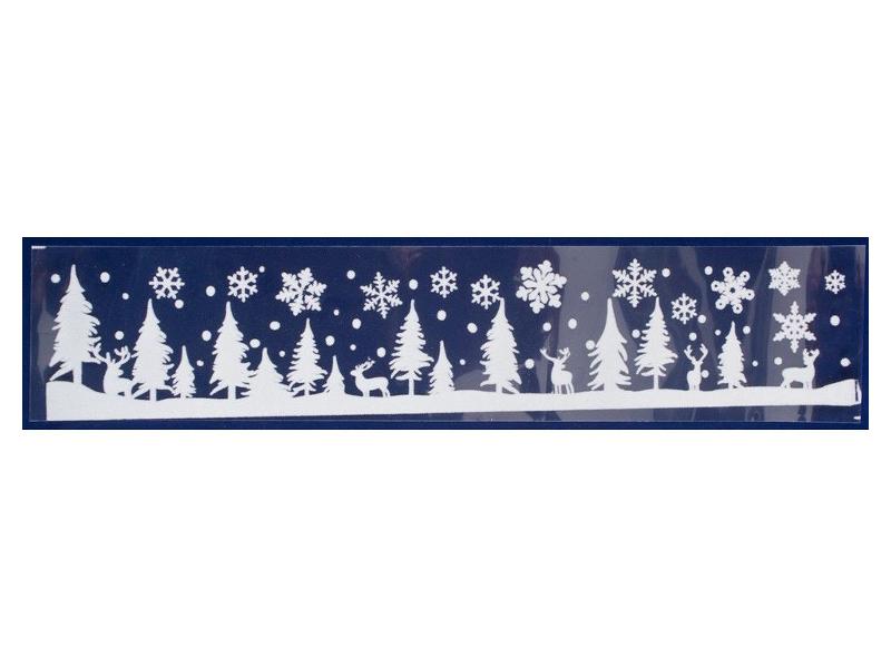 Наклейка-бордюр Peha Magic Снежные Ёлочки 12.5x58.5cm JC-20300