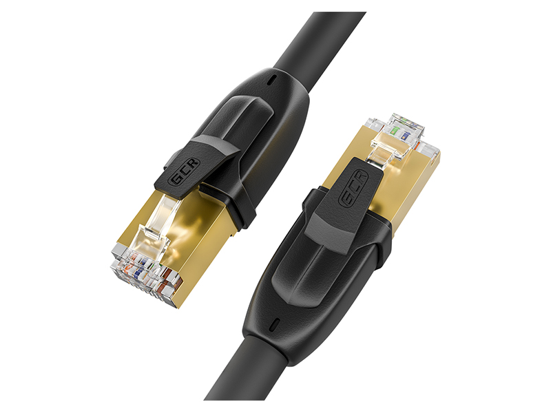Сетевой кабель GCR Prof F/FTP 28AWG cat.7 RJ45 CU 20m Black GCR-52567