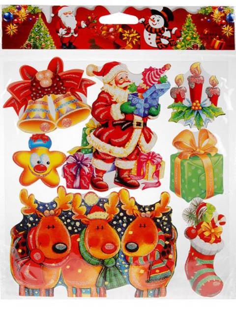 Набор 3D наклеек Koopman International Пёстрый Новый год 38х29cm ABB900020
