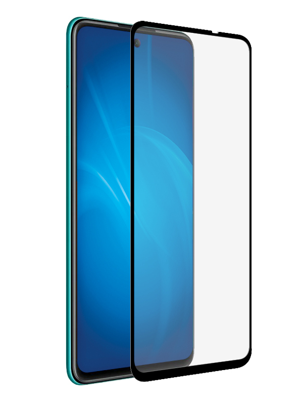 Закаленное стекло DF для Huawei P Smart 2021/Honor 10X Lite Full Screen + Glue Black hwColor-124