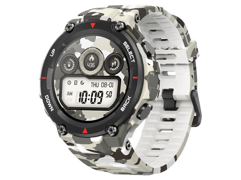 Умные часы Xiaomi Amazfit T-Rex A1919 Camo Green Выгодный набор + серт. 200Р!!!