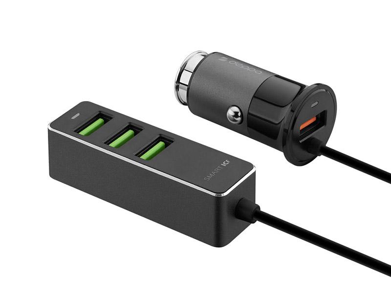 Зарядное устройство Deppa 3xUSB A + 1xUSB QC 3.0 Black 11295