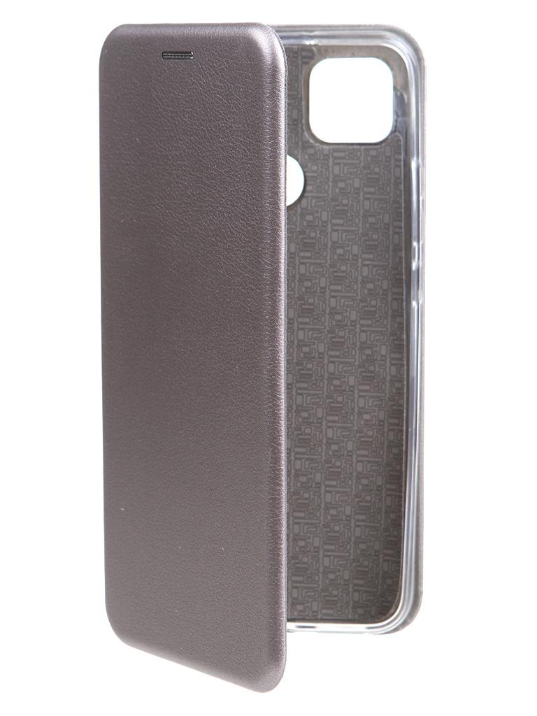 Чехол Zibelino для Xiaomi Redmi 9C Book Platinum Grey ZB-XIA-RDM-9C-GRY