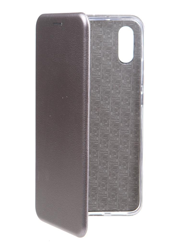 Чехол Zibelino для Xiaomi Redmi 9A Book Platinum Grey ZB-XIA-RDM-9A-GRY