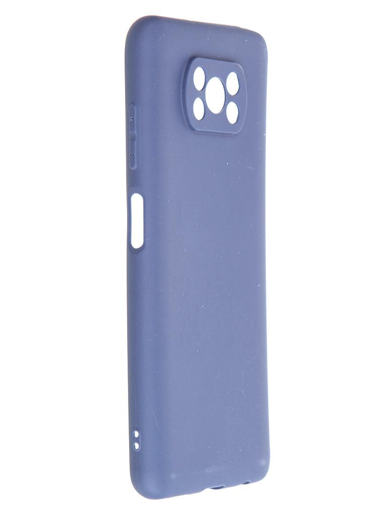 Чехол Zibelino для Xiaomi Poco X3 Soft Matte Blue ZSM-XIA-X3-BLU