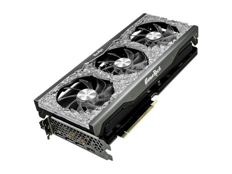 Видеокарта Palit GeForce RTX 3080 GameRock 10G 1440Mhz PCI-E 10240Mb 19000Mhz 320 bit HDMI 3xDP NED3080U19IA-1020G