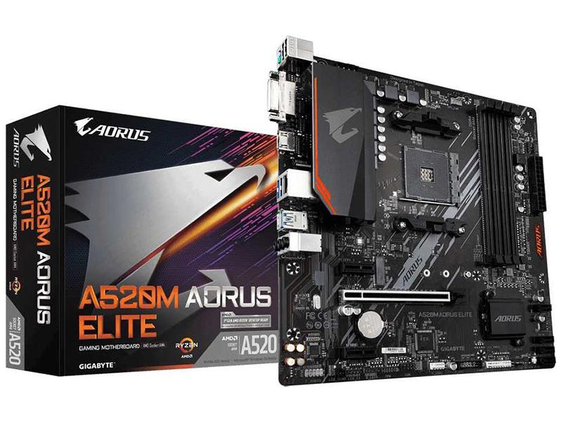 Материнская плата GigaByte A520M Aorus Elite