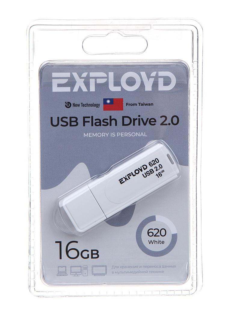 USB Flash Drive 16Gb - Exployd 620 EX-16GB-620-White