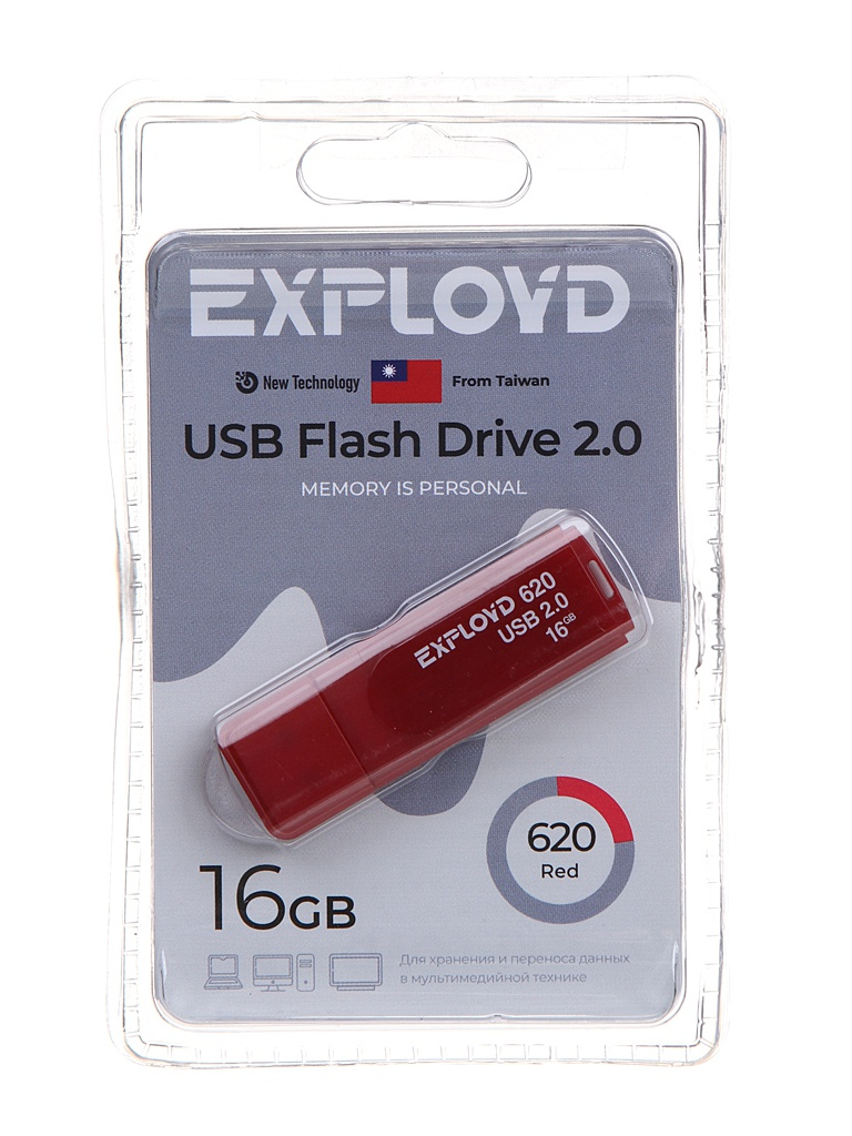 USB Flash Drive 16Gb - Exployd 620 EX-16GB-620-Red
