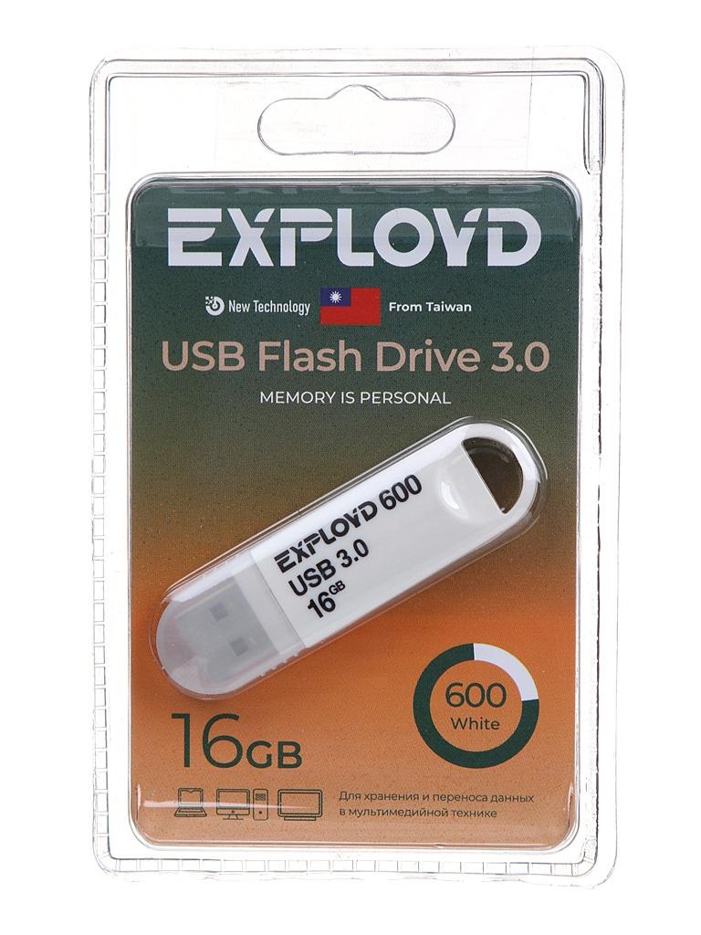 Фото - USB Flash Drive 16Gb - Exployd 600 EX-16GB-600-White usb flash drive 16gb olmio u 181 42090