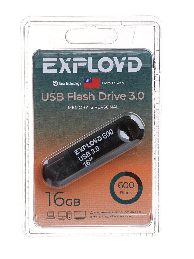 USB Flash Drive 16Gb - Exployd 600 EX-16GB-600-Black