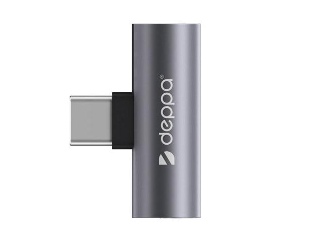 Аксессуар Deppa USB Type-C M - 3.5mm F Graphite 73129