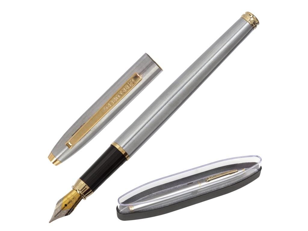 Ручка перьевая Brauberg Brioso корпус Silver-Gold Line, стержень Blue 143464