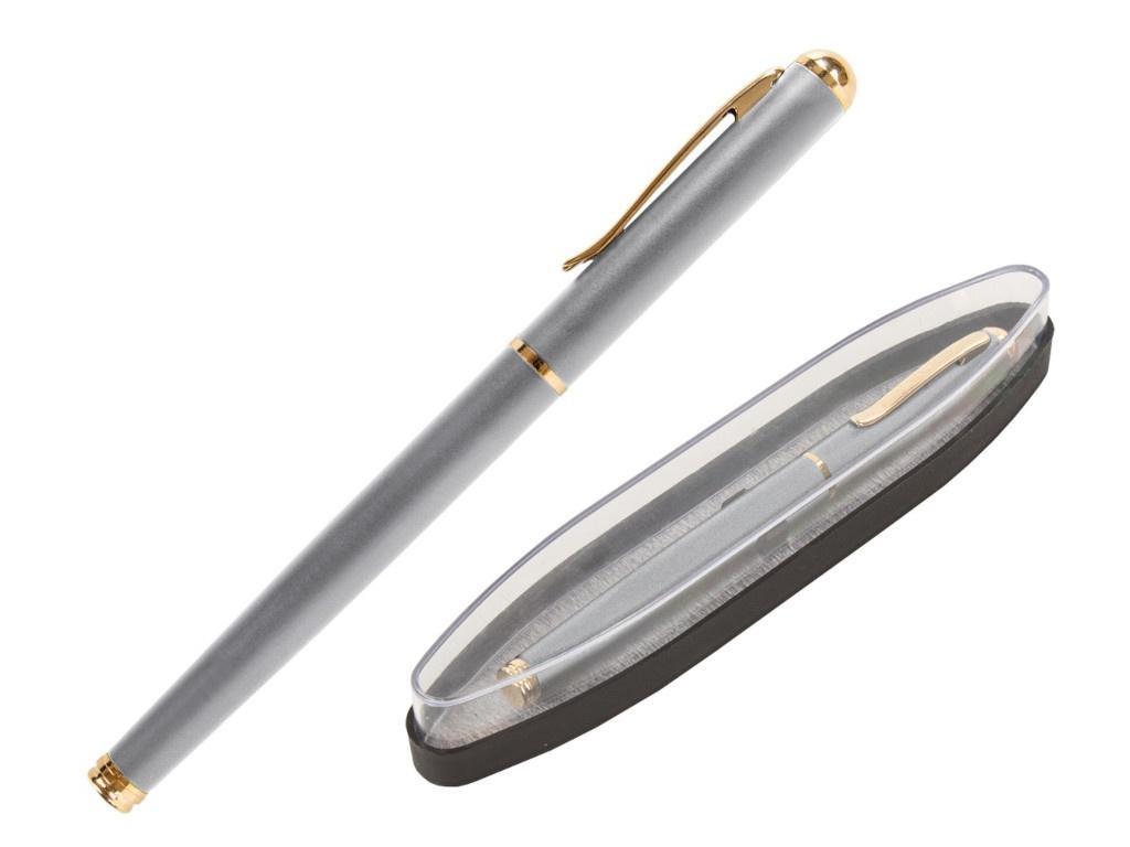 Ручка перьевая Brauberg Maestro корпус Silver-Gold Line, стержень Blue 143469