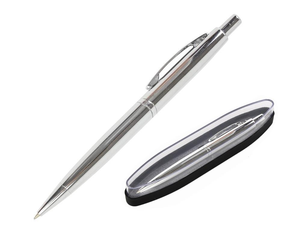 Ручка шариковая Brauberg Opera корпус Silver-Chrome, стержень Blue 143486