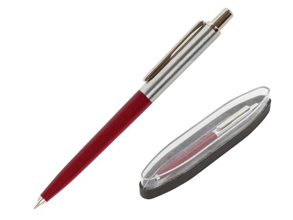Ручка шариковая Brauberg Soprano корпус Silver-Bordo, стержень Blue 143485