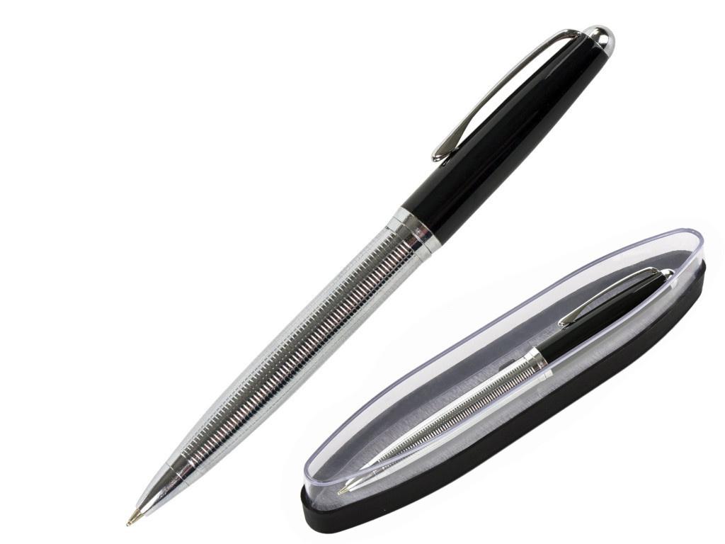Ручка шариковая Brauberg Sonata корпус Silver-Black, стержень Blue 143482