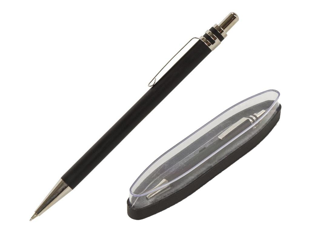 Ручка шариковая Brauberg Trillo корпус Black-Chrome, стержень Blue 143479